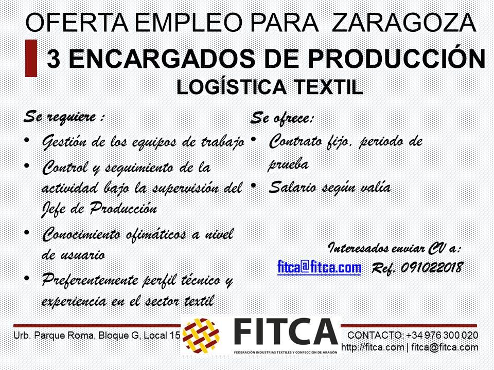 Ofertas de empleo en Zaragoza hoy